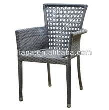 Aluminium wicker chair outdoor stacking modern furniture