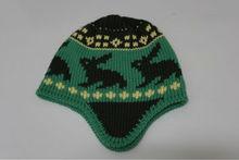 2014 fashion jacquard animal winter hat and cap