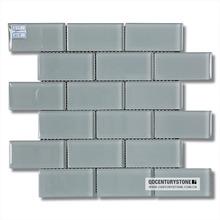 "2""x4"" Stell Grey Glossy Lowes Glass Tile Kitchen Backsplash Subway Tiles Mosaic"