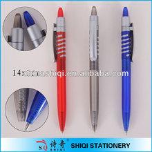 Special spiral clip barrel ball pen