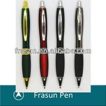 Vase Shape Click Action Rubber Grip Metal Screw Ballpoint Pen