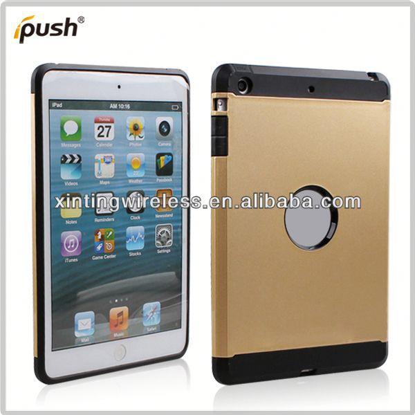 2014 new design combos case for ipad mini for ipad mini tpu pc combo case
