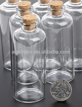European Small Corked Glass Bottles