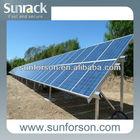 Ground screw aluminium solar frame structure