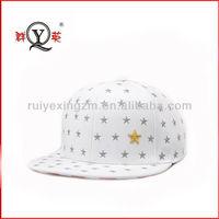 Hot New Products Original Applique Star White Snapback Baseball Cap