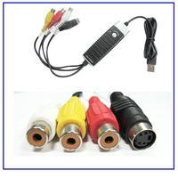 easy cap usb 2.0 video grabber usb dvr AV Grabber S-Video Composite Video Capture Adapter Recorder Windows8 TV DVD VHS RCA