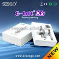 Original caliente vendedor seego g-hit k2 deiones de litio de la batería con 12v enchufe de cc