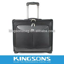 2014 black fashion stylish laptop trolley bag