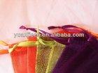 New promotional wedding favor organza drawstring pouchs