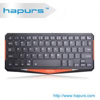 Hapurs 2014 new high quality black bluetooth keyboard ,Ultra-thin ABS Bluetooth Keyboard for ipad2/new ipad/ipad4