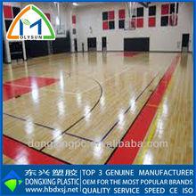 5.0mm pvc maple wood basketball flooring