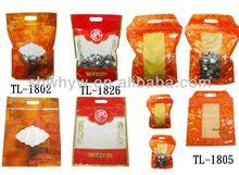ziplock top reclosable color plastic bag stand up pouch hot sale