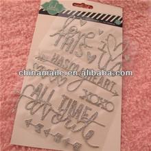 Custom glitter letter sticker for kids