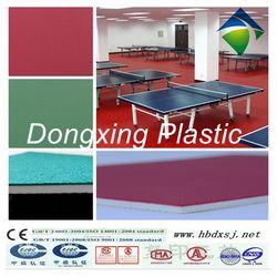 portable anti-skiiding professinal pvc sports flooring for table tennis court