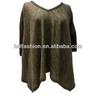 Simple design fashion women cut and sew sweaters