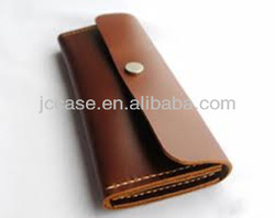 china eyeglasses case leather with snap fastener from factory