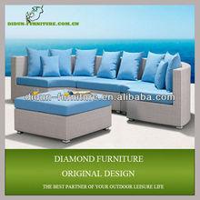 outdoor rattan sectional sofa ottoman
