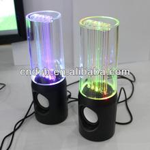 2014 manufacturer produce colorful usb water dancing speaker