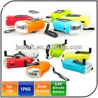 3 led Solar power hand shake led dynamo flashlight