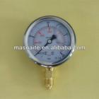 stainless steel oil filled Wika pressure gauge EN 837-1