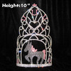 Wholesale 10inch Tall Crystal Horse Crowns
