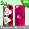 New Subimation Electroplated phone Cover Case for iphone 5/5S