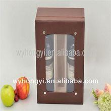 handmade antique wooden wine carrier