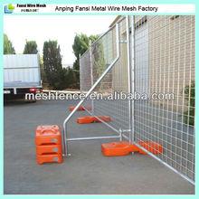 temporary metal fences panels stands concrete base