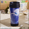 16oz plastic insulated mug with paper and screwed lid