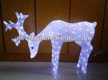 3D LED christmas acrylic deer motif light