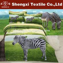 Animal printed 3d cotton bedding set bed sheet adult cartoon bedding set wholesale cheap horse printed duvet set
