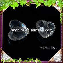 wholesale acrylic heart shape beads clear acrylic heart beads hanging acrylic pendant
