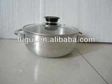 7 pcs Aluminum Cadero set with glass lid