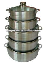 Aluminum Cadero set with glass lid