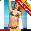 WELLA LINGEIE Sunny & Shining Golden Flower Print Triangle sexy micro mini bikini
