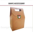 Factory price kraft paper bag heat seal welcomed flat handle paper grocery bags