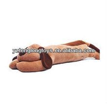 China factory plush long dog cushion stuffed dog toy plush cushion