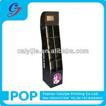 Detachable standing cardboard toothpaste toothbrush paper display racks