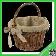 Nature Handmade Flower Girl Basket,Wicker Basket For Flower Antique, Flower Basket
