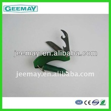 Plastic bottle opener keychain custom with led with knife with ball pen
