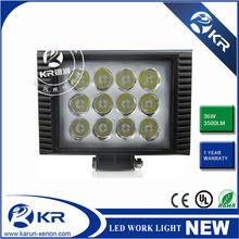 Super Brightness led work light for car, motorcycles, atv, utv,Long distance cree ip68 36w led construction working light