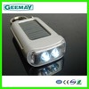 High quality Patent plastic solar led flashlight with mobile charger