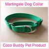 Plain Nylon Martingale Dog Collar