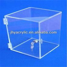 High Gloss Acrylic Display box with sliding door for Miniature Perfume bottles