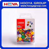 Custom decorative plastic coated wholesale colored flat head thumb tack