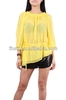 Latest ladies yellow blouse / fashion design lady blouse www sexy com