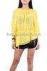 Latest ladies yellow blouse / fashion design lady blouse www sexy com