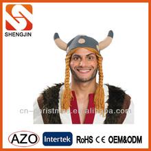 RUBIES Headwear Viking Helmet Long Blond Sidebraids Carnival Hat