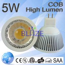 Tops Selling cob led spot 5W mr16 light bulbo replace 50w halogen lamp White shell