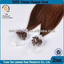 100% natural wholesale Hot Selling 8A,7A Grade loop ring grey hair extensions